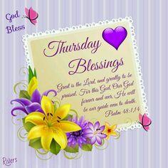 Thursday Blessings (Psalm 48:1,14)
