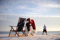 Santa Loves The Beach