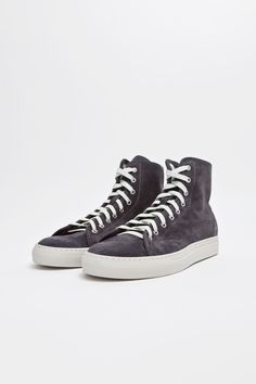 Common Projects - Tournament High Suede Black.