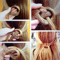 Idea for long hair doll wig
