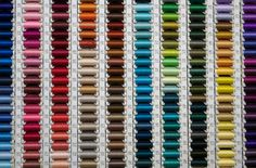 """Wonderful sewing thread spools in colours. from website """"Organized Things"""". Thread Spools, Silk Thread, Yarn Color Combinations, Things Organized Neatly, Visual Aesthetics, Ocd, Craft Supplies, Pure Products, Crafty"""
