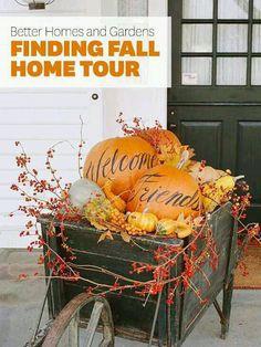 Fall Front door greeting decor ideas
