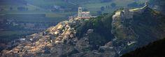 Ein Blick auf Assisi in Umbrien