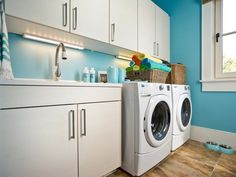 South Carolina Coastal House Tour-love this color for my laundry room