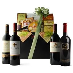 Rich in color, aroma and depth, Cabernet Sauvignon is our most popular wine variety. This collection of four carefully chosen California Cabernets is placed in our handsome leatherette magazine holder with a bounty of thoughtfully chosen gourmet food and wine accessories.    http://www.winerywebsites.biz/wines-here/sonoma-wines/4