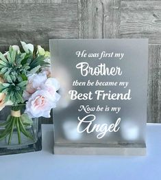 Sympathy Brother Loss of Brother Loss of Sibling Brother Missing My Brother, Brother Sister, Brother Gifts, Funny Sister, Brother Birthday, Miss You Dad, Miss You Brother Quotes, Sister Quotes, Loss Of A Loved One Quotes