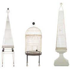 Three Large Birdcages By Frederick Weinberg | From a unique collection of antique and modern bird cages at https://www.1stdibs.com/furniture/more-furniture-collectibles/bird-cages/