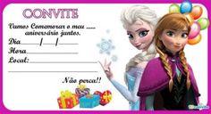 convites de aniversário da Frozen para imprimir                              …