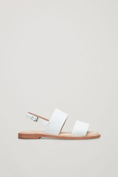 COS Leather strap sandals in White