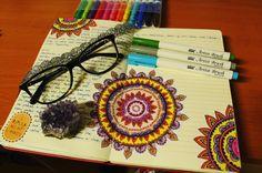 "Páči sa mi to: 23, komentáre: 1 – Dominika Imrichová (@ms_domca) na Instagrame: ""Exams are coming .... what does it mean?  Mandala time!  #mandala #journal #journaling…"" Artist Brush, My Journal, Journaling, Ms, Mandala, Instagram Posts, Caro Diario, Mandalas"
