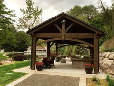 easy heavy-duty gazebo kit pavilion-wood-timber