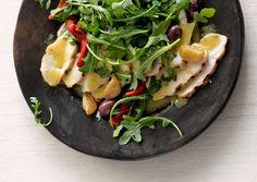 Grilled Chicken Salad with Garlic Confit