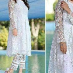 Net cotton shirt for Sale in Chandler, AZ - OfferUp Net Dresses Pakistani, Net Dress Design, White Kurtis, Dress Designs For Girls, Shalwar Kameez, Indian Fashion, Women's Fashion, Frocks, Dress Making