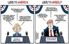 SHE SAID, HE SAID | Jul/30/16 Cartoon by Bob Gorrell -
