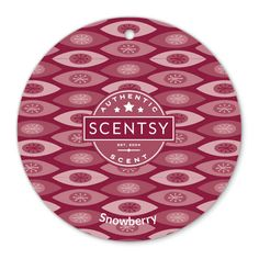 Snowberry Scentsy Scent Circle $3.  A luscious blend of loganberry, strawberry, peppermint, and zesty cinnamon.