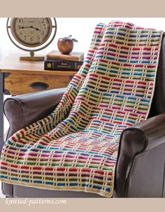 Stripes throw crochet pattern free