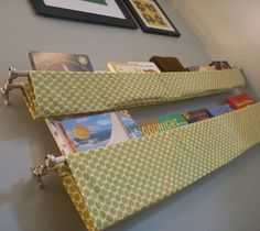 If you can sew a (reasonably) straight line, you can make these book slings. And the options of fabrics are endless!