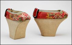 Manchu platforms  China, 19th century.  From the Bata Shoe Museum. As a child,I owned a similar pair of shoes, which were given to me