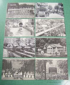 Collector's Lot - 8 Vintage Black & White Photographic Postcards - Unused Unstamped - House of David Benton Harbor, Mich. with Baseball Team by AVintageLifeByNikki on Etsy