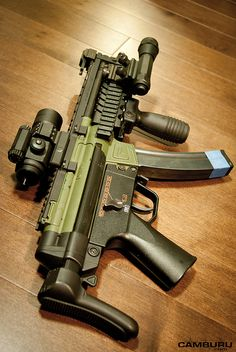 HK MP5 with extras.  Compact, reliable. Solid primary in case of zombie apocalypse.