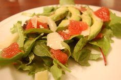 Grapefruit and Avocado salad from Haute Apple Pie http://hauteapplepie.com/2012/01/10/grapefruit-and-avocado-salad/