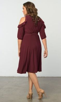 Check out the deal on Barcelona Wrap Dress-Sale! at Kiyonna Clothing