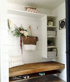11 Stunning Examples of Farmhouse Shiplap Paneling: I'm dreaming of a farmhouse shiplap paneling accent wall in our bedroom, or in our living room. diy home accents Shiplap Paneling -- 11 Stunning Examples of the Farmhouse Shiplap Look Diy Wanddekorationen, Shiplap Paneling, Paneling Painted, Shiplap Cladding, Shiplap Wood, Paneling Ideas, Painted Walls, Painted Wood, Home Organization