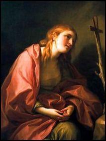 """Anton Raphael MENGS, Sainte Marie-Madeleine pénitente avec une croix, NOT """"Mary Magdalene by Raphael """""""