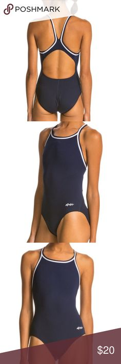 dolfin 🐬 flattering sporty one piece Fabulous, like new one piece that is both ultra flattering due to back detail and high leg openings, as well as utilitarian and secure! Swim in solid style with the Dolfin Poly Solid DBX Back Swimsuit. Designed with a high-quality fabric composition, this swimsuit delivers exceptional comfort and flexibility that is perfect for the pool. Shell: 100% Chloroban Polyester Lining: 100% Polyester Note Item runs small, please order one size up....NOTE: SIZE 32…