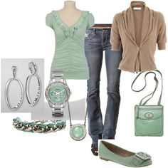 Mint, created by slmon on Polyvore