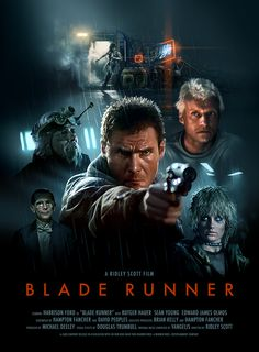 Blade Runner poster by artist Brian Taylor