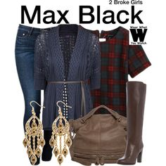 Inspired by Kat Dennings as Max Black on 2 Broke Girls.
