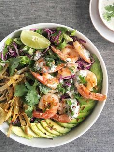 65 Insanely Easy Summer Dinner Ideas- Grilled Shrimp Taco Bowl