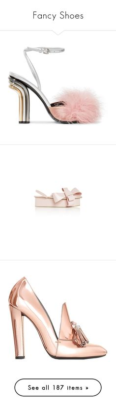 """Fancy Shoes"" by shelcity ❤ liked on Polyvore featuring shoes, sandals, heels, footwear, pink, silver, pink high heel sandals, pink strappy sandals, pink heeled sandals and leather sandals"