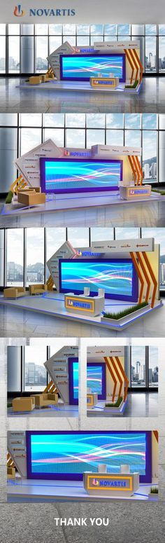 Novartis Booth on Behance Exhibition Stall Design, Exhibition Stands, Exhibit Design, Plateau Tv, Concert Stage Design, Corporate Event Design, Stage Set Design, Backdrop Design, Stand Design