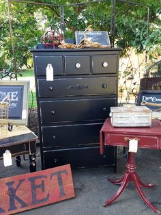 French Country Black Dresser at The Shabby Cottage