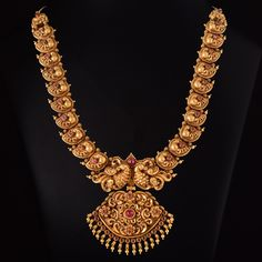 Vanki Designs Jewellery, Antique Jewellery Designs, Gold Ring Designs, Gold Jewellery Design, Gold Temple Jewellery, Gold Jewelry, Gold Necklace, Antique Necklace, Antique Tiles