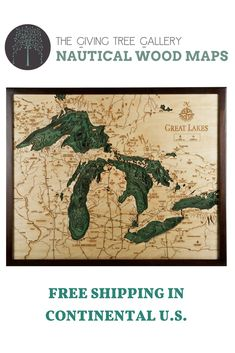 109 Best 3D Nautical Wood Maps images   Map, Nautical, Lake art Arbutus Lake Bottoms Map on