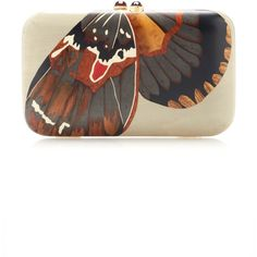 Silvia Furmanovich Marquetry Grey Butterfly Clutch ($6,000) ❤ liked on Polyvore featuring bags, handbags, clutches, grey, butterfly handbag, grey purse, grey handbags, gray handbags and wooden handbag