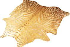 Gold Metallic Zebra Rug from http://fwrental.com/