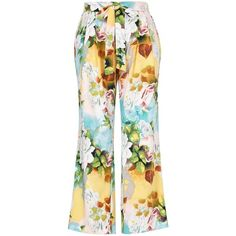 Melissa Mccarthy Seven7 Plus Floral-Print Wide-Leg Pants (2,955 PHP) ❤ liked on Polyvore featuring plus size women's fashion, plus size clothing, plus size pants, pink, floral print wide leg pants, wide leg pants, flower print pants, floral wide leg trousers and elastic pants