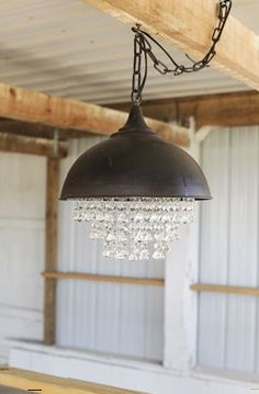 """Love this mix of industrial and glam! """"13-1/4"""""""""""", """"15""""""""H"""", da2838, Metal, Round, x 