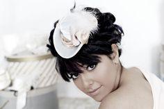 Mini Tricorn Hat : Duchess C - Blue Pink Gold Fascinator