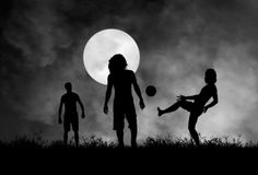 Playing in the moonlight