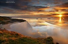 Sunrise over Castle Point, near Rockcliffe, Dumfries & Galloway. Looking out over the Solway towards The Lake District Beautiful World, Beautiful Places, Beautiful Pictures, Beautiful Scenery, Amazing Photography, Landscape Photography, Amazing Sunsets, Lake District, Great Photos