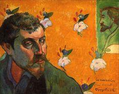 Self-Portrait Dedicated to Vincent van Gogh (Les Misérables), 1888-Paul Gauguin