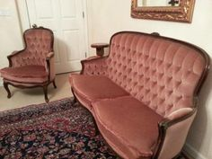 Tufted Chesterfield Sofa + Matching Chair Authentic Not a Replica. - $500 (dublin / pleasanton / livermore)