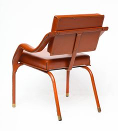 Leather Armchair by Jacques Quinet 6