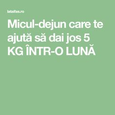 Micul-dejun care te ajută să dai jos 5 KG ÎNTR-O LUNĂ Healthy Life, Healthy Food, Feel Good, Health Fitness, Food And Drink, Feelings, Shake, Smoothie, Beauty Tips