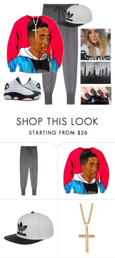 """""""1-800-HOTLINE-BLING"""" by whitneypearl ❤ liked on Polyvore featuring Clu, adidas, Palm Beach Jewelry and Robert and Michelle Casarietti"""